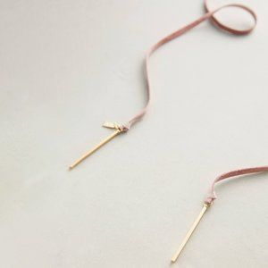 NWOT Anthropologie Suede Bolo Necklace